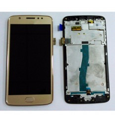 Motorola Moto E4 XT1762 original display lcd with gold touch screen with frame
