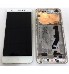 BQ Aquaris X Pro original display lcd with white touch screen with frame