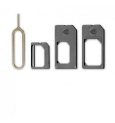 Adaptador Microsim + Nanosim para iPhone 4, 4s, 5