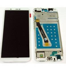 HUAWEI P SMART ENJOY 7S PANTALLA LCD + TACTIL BLANCO + MARCO ORIGINAL