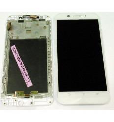 ASUS ZENFONE MAX ZC550KL PANTALLA LCD + TACTIL BLANCO + MARCO ORIGINAL