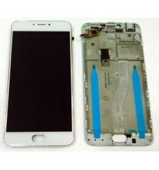 MEIZU M3 NOTE L681H PANTALLA LCD + TACTIL BLANCO + MARCO ORIGINAL