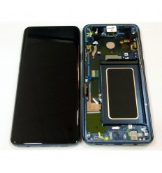 SAMSUNG GH97-21691D GALAXY S9 PLUS SM-G965F PANTALLA LCD + TÁCTIL NEGRO + MARCO AZUL ORIGINAL