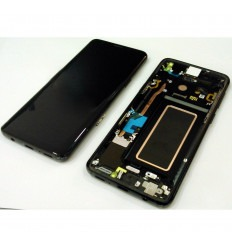 SAMSUNG GH97-21696A GALAXY S9 SM-G960F PANTALLA LCD + TÁCTIL NEGRO + MARCO NEGRO ORIGINAL
