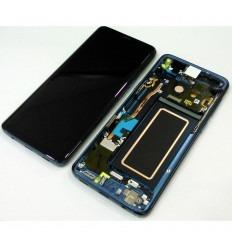 SAMSUNG GH97-21696D GALAXY S9 SM-G960F PANTALLA LCD + TÁCTIL NEGRO + MARCO AZUL ORIGINAL
