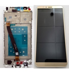 HUAWEI HONOR 7X PANTALLA LCD + TACTIL DORADO + MARCO BLANCO ORIGINAL