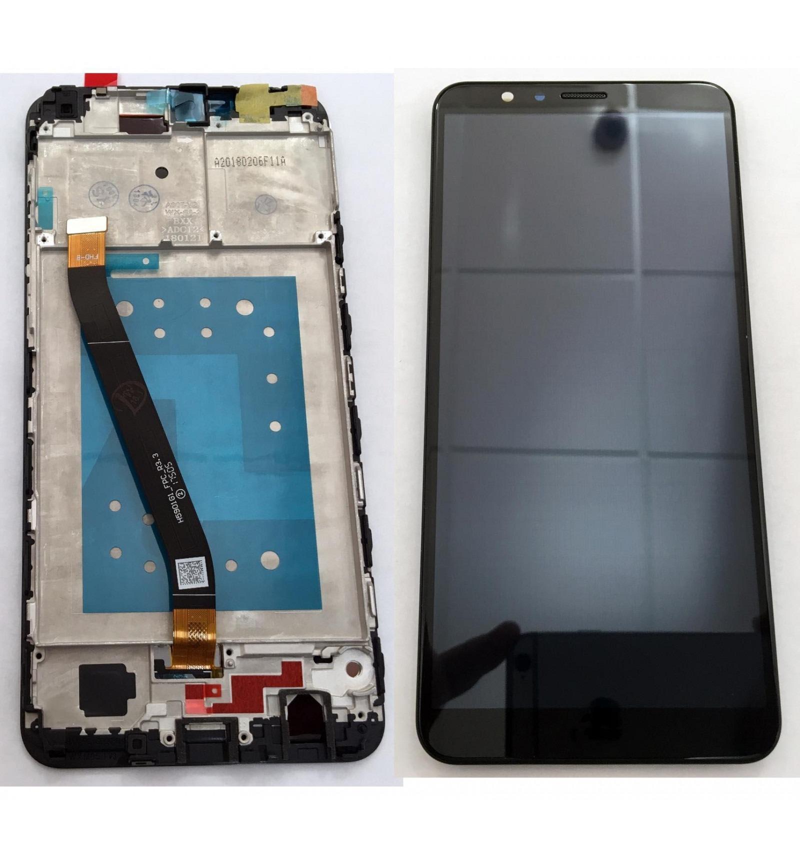 Huawei Honor 7x pantalla lcd + tactil negro + marco original