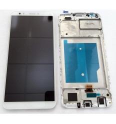 HUAWEI HONOR 7C ENJOY 8 PANTALLA LCD + TACTIL BLANCO + MARCO ORIGINAL