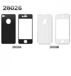 iPhone 4 4s protector metalico 2 partes color negro 28026A