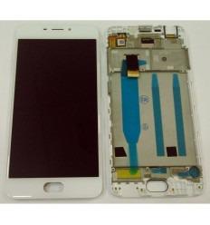 MEIZU MEILAN 6 M6 PANTALLA LCD + TACTIL BLANCO + MARCO ORIGINAL