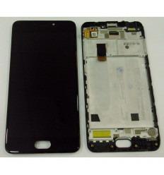 MEIZU MEILAN 6 M6 PANTALLA LCD + TACTIL NEGRO + MARCO ORIGINAL
