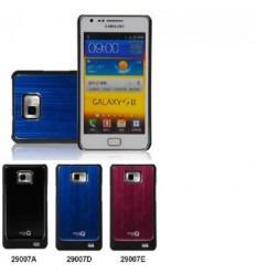 Samsung Galaxy S2 I9100 funda metal pulido azul