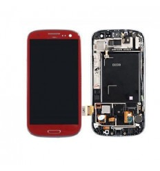 Samsung Galaxy s3 i9300 táctil+lcd+digitalizador rojo origin
