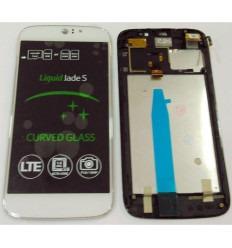 ACER LIQUID JADE S PANTALLA LCD + TACTIL BLANCO + MARCO ORIGINAL