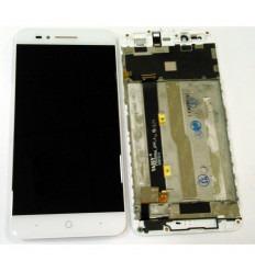 ZTE BLADE A612 PANTALLA LCD + TACTIL BLANCO + MARCO ORIGINAL