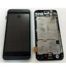 HTC DESIRE 620 PANTALLA LCD + TACTIL NEGRO + MARCO AZUL ORIGINAL