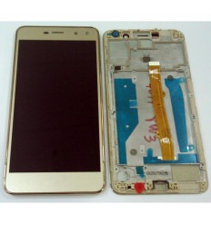 Huawei Y6 2017 original display lcd with gold touch screen with frame