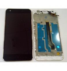 ALCATEL VODAFONE SMART ULTRA 6 995N VF995 VF995N PANTALLA LCD + TACTIL NEGRO + MARCO PLATA ORIGINAL