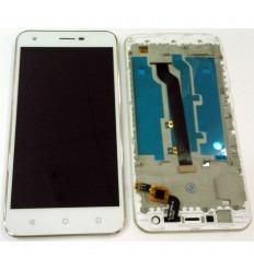 ALCATEL VODAFONE SMART ULTRA 6 995N VF995 VF995N PANTALLA LCD + TACTIL BLANCO + MARCO PLATA ORIGINAL