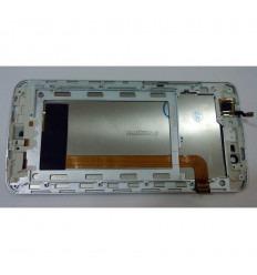 ELEPHONE P8000 PANTALLA LCD + TACTIL BLANCO + MARCO ORIGINAL
