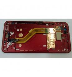 HTC U11 PANTALLA LCD + TACTIL NEGRO + MARCO ROJO ORIGINAL