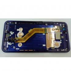 HTC U11 PANTALLA LCD + TACTIL NEGRO + MARCO AZUL ORIGINAL