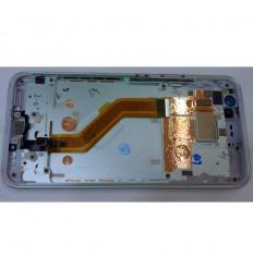 HTC U11 PANTALLA LCD + TACTIL NEGRO + MARCO PLATA ORIGINAL