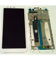 ASUS ZENFONE MAX PLUS M1 ZB570TL PANTALLA LCD + TACTIL BLANCO + MARCO ORIGINAL
