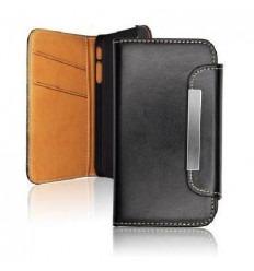 SAF002 Funda cartera piel Samsung I9220 Galaxy Note negro