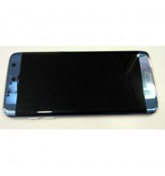 SAMSUNG GH97-18767G G935F GALAXY S7 EDGE PANTALLA LCD + TÁCTIL AZUL + MARCO DORADO ORIGINAL