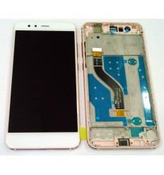 HUAWEI P10 LITE PANTALLA LCD + TACTIL BLANCO + MARCO ROSA ORIGINAL