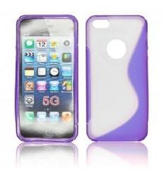 IPE009 Back Case S-LINE - iPhone 5 Transparent/purple