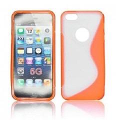 IPE010 Back Case S-LINE - iPhone 5 Transparent/orange