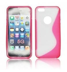 IPE011 Back Case S-LINE - iPhone 5 Transparent/pink