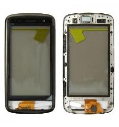 Nokia C6-01 Pantalla táctil original negra con frame