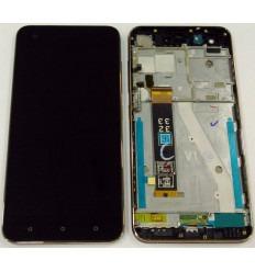 HTC DESIRE 10 PRO PANTALLA LCD + TACTIL NEGRO + MARCO AZUL ORIGINAL