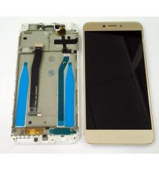 XIAOMI REDMI 4X PANTALLA LCD + TACTIL DORADO + MARCO BLANCO ORIGINAL
