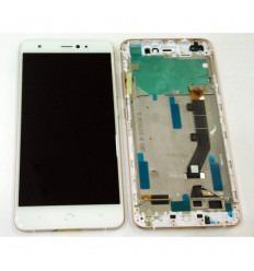 BQ AQUARIS X PRO PANTALLA LCD + TACTIL BLANCO + MARCO ROSA ORIGINAL