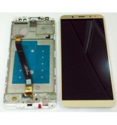 HUAWEI MATE 10 LITE PANTALLA LCD + TACTIL DORADO + MARCO BLANCO ORIGINAL