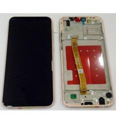 HUAWEI P20 LITE PANTALLA LCD + TACTIL NEGRO + MARCO ROSA ORIGINAL