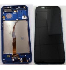 HUAWEI HONOR 10 PANTALLA LCD + TACTIL NEGRO + MARCO AZUL ORIGINAL
