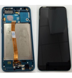 HUAWEI HONOR 10 PANTALLA LCD + TACTIL NEGRO + MARCO AZUL CLARO ORIGINAL
