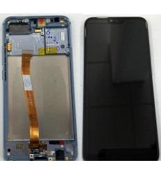 HUAWEI HONOR 10 PANTALLA LCD + TACTIL NEGRO + MARCO GRIS ORIGINAL