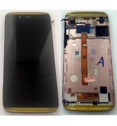 ALCATEL IDOL ALFA 6032X 6032A PANTALLA LCD + TACTIL NEGRO + MARCO ROSA ORIGINAL