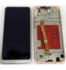 HUAWEI P20 LITE NOVA 3E PANTALLA LCD + TACTIL BLANCO + MARCO ROSA ORIGINAL
