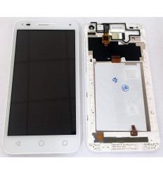 ALCATEL U5 3G PANTALLA LCD + TACTIL BLANCO + MARCO ORIGINAL