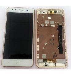 BQ AQUARIS X5 TFT5K1465FPC-B1-E PANTALLA LCD + TACTIL BLANCO + MARCO ROSA ORIGINAL