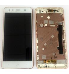 BQ AQUARIS X5 FPC-S90723-1 PANTALLA LCD + TACTIL BLANCO + MARCO ROSA ORIGINAL