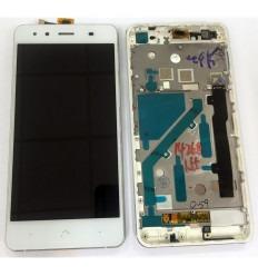 BQ AQUARIS X5 FPC-S90723-1 PANTALLA LCD + TACTIL BLANCO + MARCO PLATA ORIGINAL