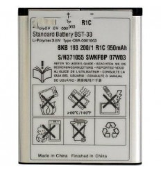 Batería Original BST-33 Sony Ericsson K800 P990I 900 MAH